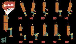 sentado higiene postural